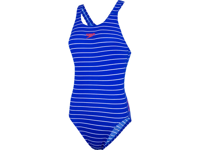 speedo Endurance+ Printed Medalist Maillot de bain 1 pièce Femme, chroma blue/white